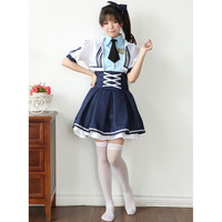Women Costume Halloween Love Live Cosplay Fancy Dress Cosplay Suit Female Navy Suit Disfraz Militar Mujer Disguise For Adults