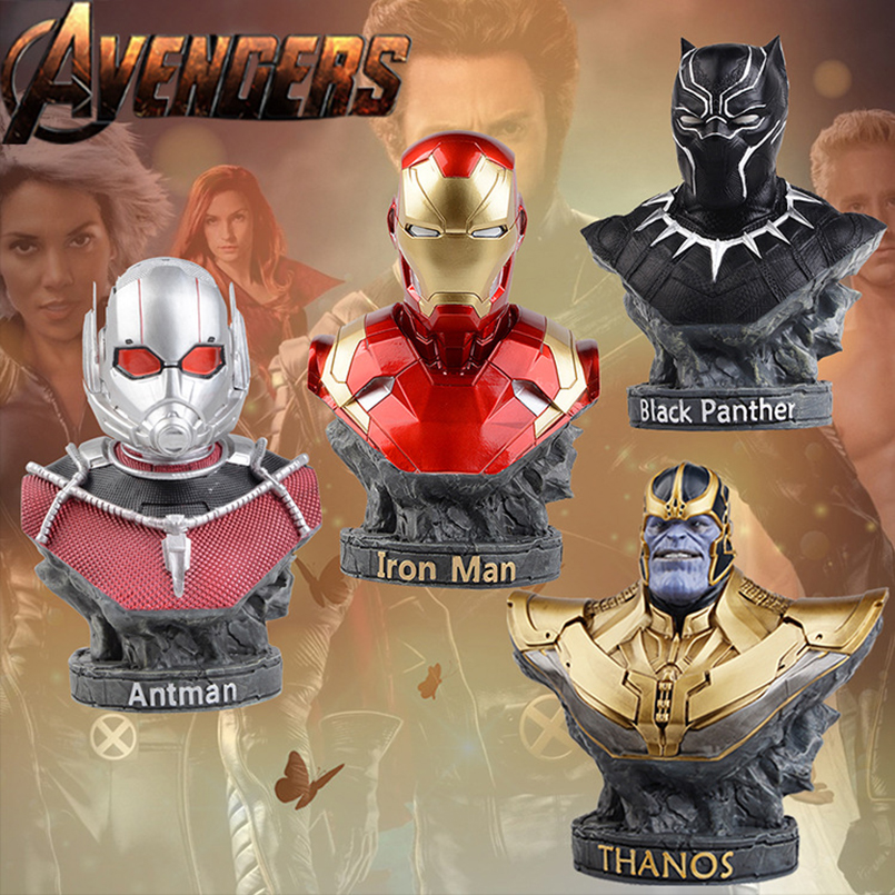 The Avengers 3 INFINITY WAR Thanos Iron Man Black Panther Antman PVC Action Figures Original Collectible Model Toy Kids Gift the flash man aciton figure toys flash man action figures collectible pvc model toy gift for children
