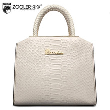 ZOOLER2016 new high-quality luxury fashion brand handbag serpentine leather bag counter genuine, well-known brands of women