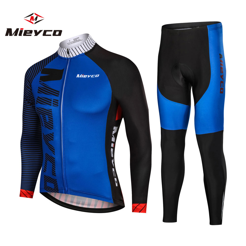 Autumn Bike Sport Jersey Cycling Long Sleeves Shirt Trousers Suit Pro Team Mountain Bicycle Racing Clothes MTB Clothing