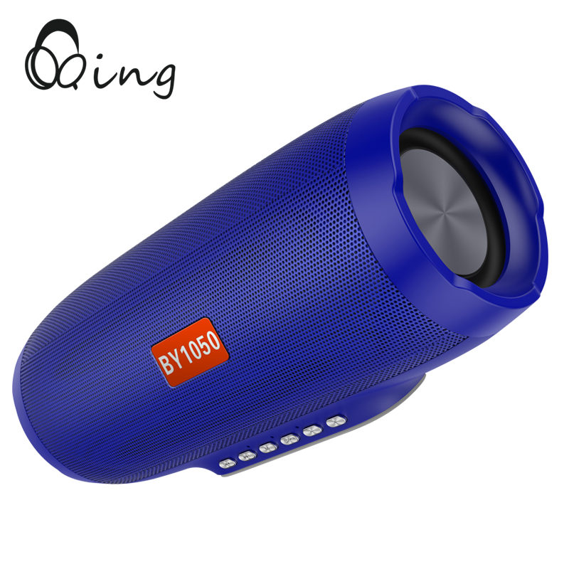 QINGRX Bluetooth Speaker bass Wireless Portable Outdoor 10W Sound System Stereo Loudspeaker with Mic TF Card for Phone