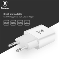Baseus Letour Dual USB Wall Charger EU Plug 5V2A 5V1A Quick Charge Phone For Iphone 6