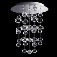 Modern Minimalist Creative LED Living Room Ceiling Lamp Restaurant Bedroom Study Lamp Bubble Ball Glass Chandelier