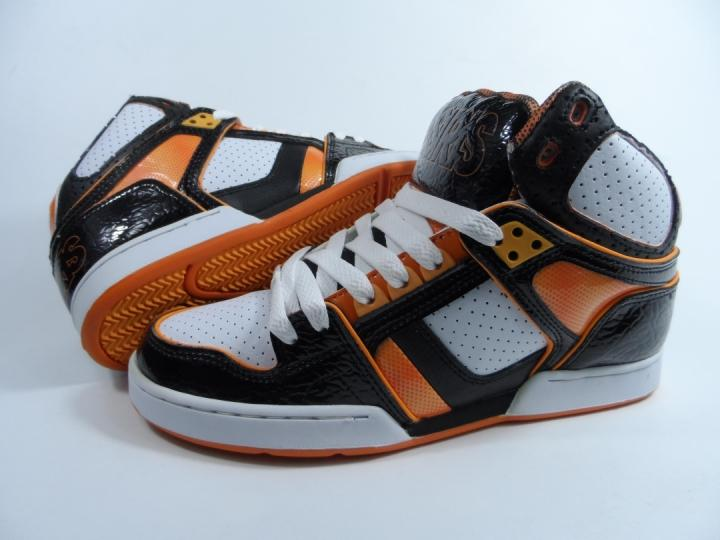ФОТО OSIRIS Men Skate boarding Shoe Fashion Mid Skate Shoes Lace Up White Orange Shoes Menwear Gift NYC83 Ultra Large Size