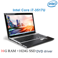 P8 23 black 16G RAM 1024G SSD i7 3517u 15.6 gaming laptop DVD driver keyboard and OS language available for choose