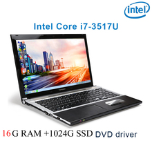 """P8-23 black 16G RAM 1024G SSD i7 3517u 15.6 gaming laptop DVD driver keyboard and OS language available for choose"""""""
