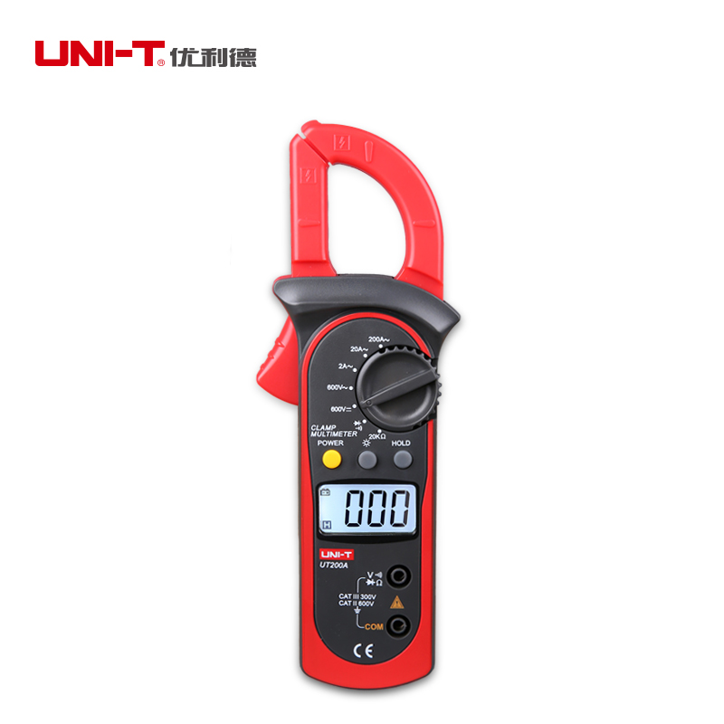 UNI-T LCD Digital Clamp Multimeter Backlight Ohm DMM DC AC Voltmeter AC Ammeter AC Current AC/DC Voltage Resistance Meter