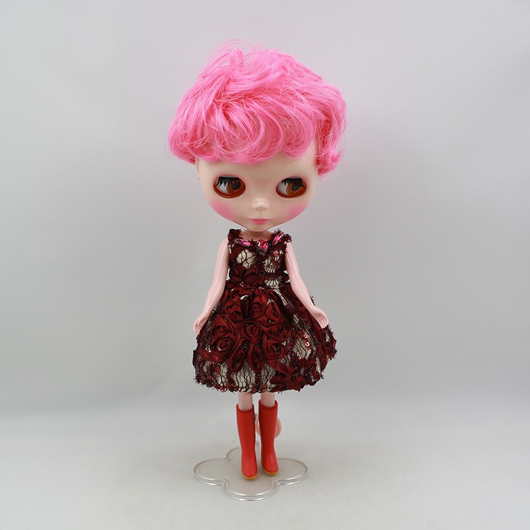 Neo Blythe Doll Pink Stand 12