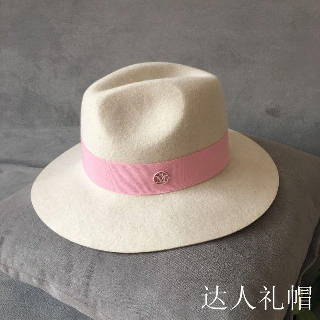 2017 в Европе и Британский двойной порошок М Сэр марка белая шляпа большие карнизы топи женский элегантной моды шляпу ткань
