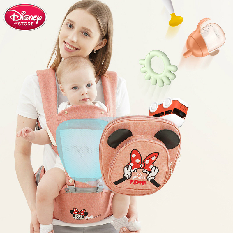 Disney Baby Carrier Breathable Front Facing Baby Backpack Carrier Infant Comfortable Sling Backpack Pouch Wrap Carriers