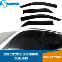 2016 2017 Car Window Visor For Toyota fortuner hilux sw4 Deflectors Guards For toyota fortuner hilux sw4 2017 Vent Visor SUNZ