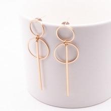 Модный элегантный геометрический дизайн, округлый, Круглый Серьги-кольца, двойные полые круглые модные серьги для женщин, изысканный подарок E0204
