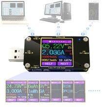 Voltímetro amperímetro digital, a3/A3-B usb examinador dc digital voltímetro amperímetro voltagem atual medidor de amperímetro detector indicador do carregador carga energia