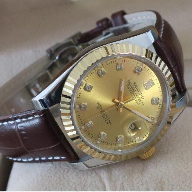 ФОТО 38MM SANGDO  men's watch Sapphire mirror Automatic Self-Wind movement 2016 new fashion Mechanical watches well