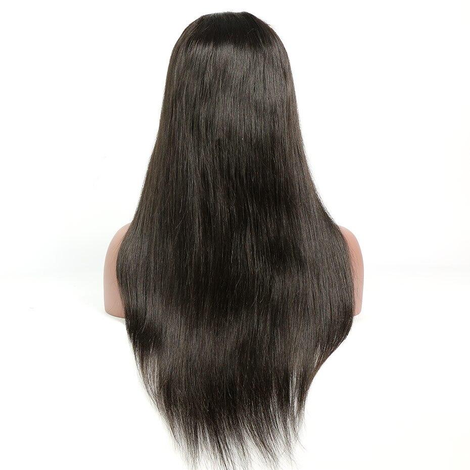 Image 3 - Liweike U pelucas de pelo brasileño sedoso Natural recto línea de pelo 1B Color blanqueado nudos 150% densidad Remy cabello humano peluca sin pegamento-in Peluca de encaje de cabello humano from Extensiones de cabello y pelucas on AliExpress