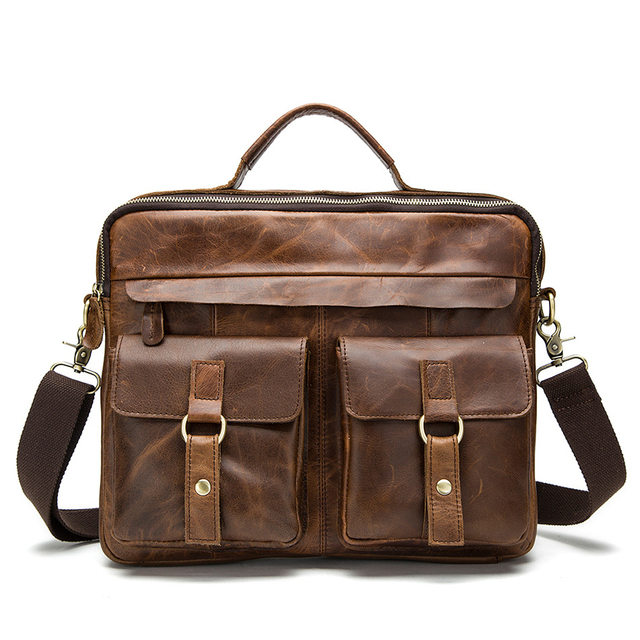Men Briefcase Genuine Leather Bags famous brand Handbags Office Bags for Mens  Messenger Bag Men Leather 00ced77a8e