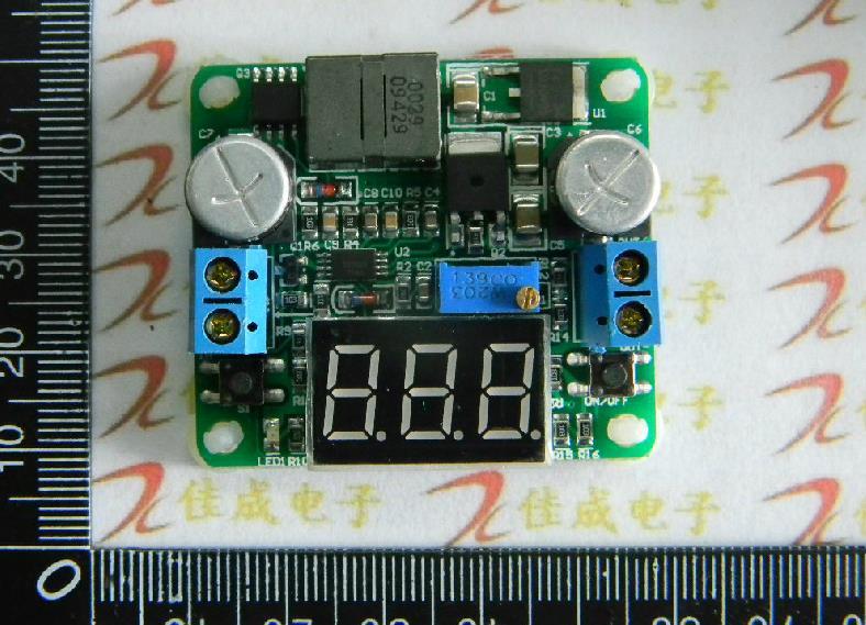 Rouge Étape-Up et Step-Down Module D'alimentation Boost et Buck Convertisseur de Tension avec Intégré voltmètre Super LM2596 et LM2577