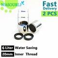 2 PCS 20mm rosca interna 6L de poupança de água torneira arejador rosca fêmea toque bico bolha acessórios bathroon bacia cozinha tomada