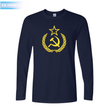 2019 New CCCP T Shirts Men USSR Soviet Union KGB Man T-Shirt Long Sleeve Moscow Russians Tees Cotton O Neck Tops Clothing TO-89