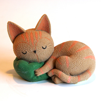 3D Sleeping Fox Shape Silicone Mold for Mousse Cake Ice Cream Chocolate Tool Resin Clay Craft Handmade Soap Candle Mould