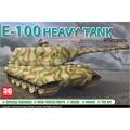 Dragon scale kits modelo modelo 7256 1/72 alemanha E-100 pesado escala tanque kits de tanque