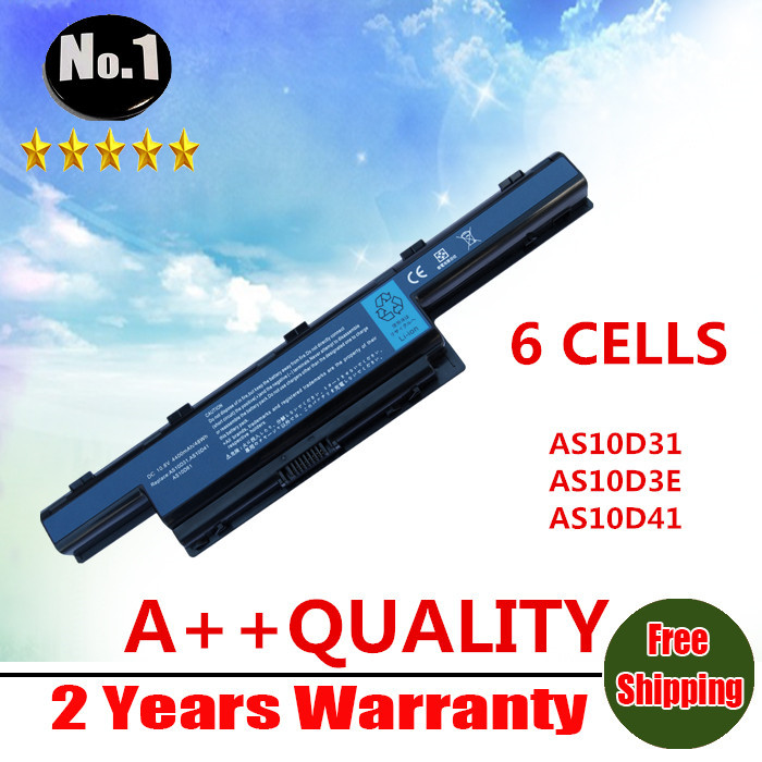 Wholesale new 6CELLS laptop battery For Acer 4741G Replace AS10D31 AS10D3E AS10D41 AS10D51 AS10D61 AS10D71 AS10G3E Free shipping wholesale new 6 cells laptop battery for dell latitude d620 d630 d630c d631 series 0gd775 0gd787 0jd605 0jd606 free shipping