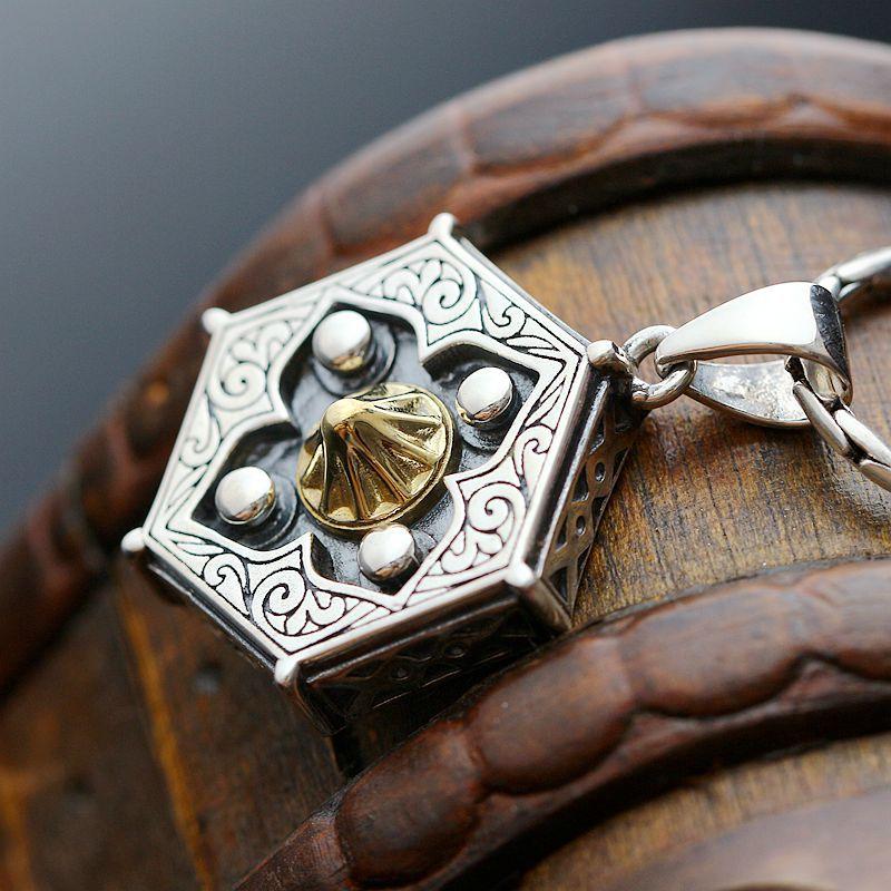 Ecoworld Ge argent en gros 925 pendentif en argent Sterling pendentif en argent amulette Taiji Bagua hommes pendentif