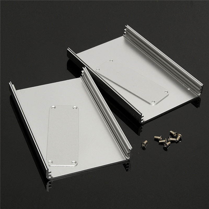 Silver 26*71*110MM DIY Aluminum instrument Box Enclosure Case Project Electronic Connectors with Screws columbia field master ii ca007 430
