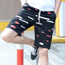 NEW 2019 Summer beach shorts Drawstring men plus fertilizer 5XL Color striped printed men's leisure bermuda Board Shorts drawstring side pocket bermuda shorts