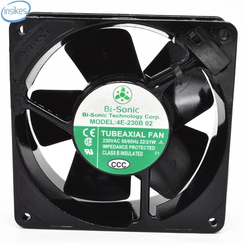 4E-230B 02 AC 230V 0.14A/0.13A 22/21W 3000RPM 12038 12cm 120*120*38mm 2 Wires Full Metal High Temperature Cooling Fan запонка arcadio rossi запонки со смолой 2 b 1026 20 e
