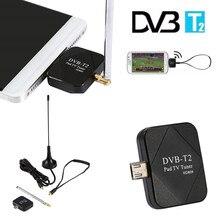DVB-T2 USB TV Tuner Bâton DVB-C T2 HD TV sur Android téléphone PC Ordinateur Portable avec USB OTG USB TV tuner pad TV récepteur