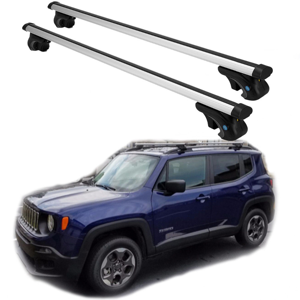 Aluminum Car Roof Rack Cross Bar For 2014 2015 2016 2017 Jeep Cherokee + Lock Ststem Car Roof Luggage Holder 2pcs roof rack cross bar crossbar black abs aluminum for jeep compass 2011 2015