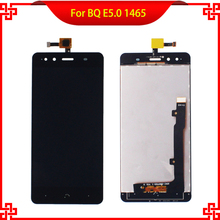 5PC/Lot High Quality LCD Display Touch Screen Digitizer Assembly For BQ E5.0 5.0 1465 Tested Mobile Phone LCDs Free Tools