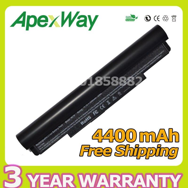 413a46c70adbd3 Apexway Czarny 6 komórek 4400 mah Dla Samsung N110 N120 N510 NC10 NC20 ND10  AA-PB6NC6E AA-PB6NC6W AA-PB8NC6B AA-PB8NC8B AA-PL8NC6W