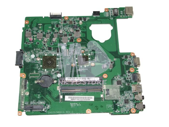 NBM0Z11001 NB.M0Z11.001 Main Board For Acer aspire E1-421 Laptop Motherboard DA0ZQZMB6C0 DDR3 815248 501 main board for hp 15 ac 15 ac505tu sr29h laptop motherboard abq52 la c811p uma celeron n3050 cpu 1 6 ghz ddr3