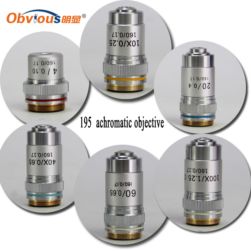 20X 4X-100X Achromatic Microscope Objective Lens for All Biological Microscopes with C Interface