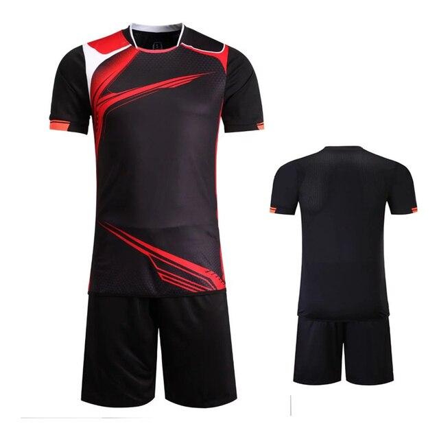 Envío libre 17 nuevo color negro traje Camisetas de Soccer desgaste ...