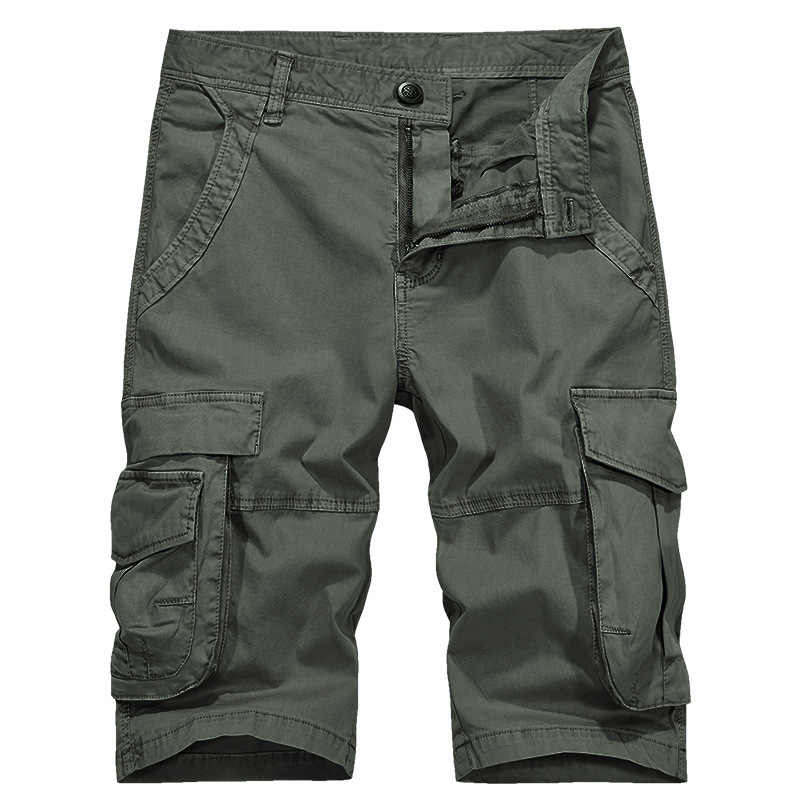 Cargo Shorts Men Summer Cotton Short Mens Multi Pockets Casual Shorts Militry Style Army Clothing High Quality Overalls Hombre