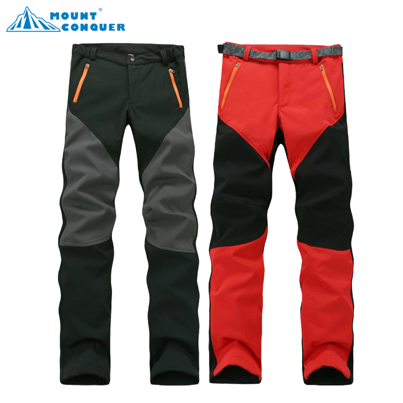 Camping Hiking Winter Outdoor Sport Soft shell Pants Warm Waterproof Fleece Windproof Fishing Men Mountain Climbing pantalones autumn winter women men outdoor hiking pants warm waterproof breathable soft pants cycling climbing camping travel sport pant