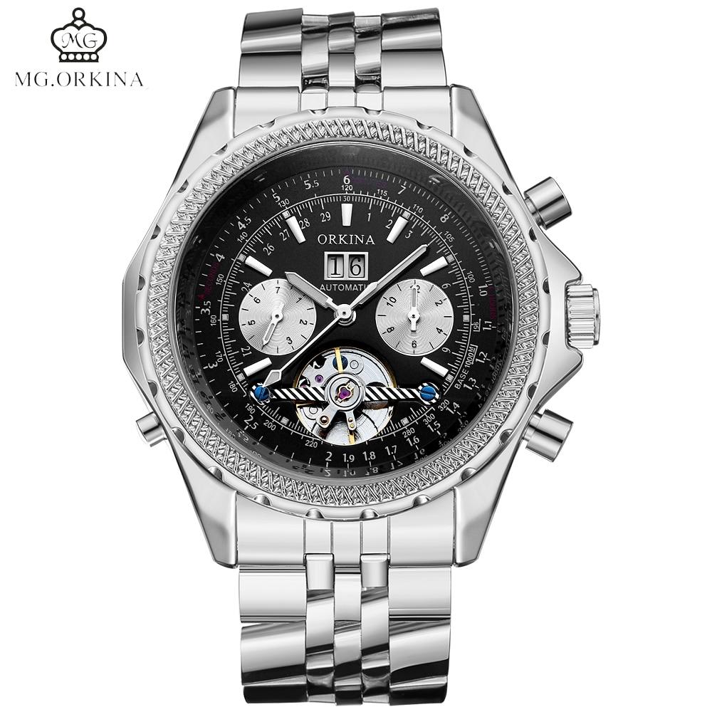 где купить MG.ORKINA Military Top Brand Mechanical Watches Luxury Automatic Self-wind Relogio Masculino Fashion Men Watch Tourbillon Clock по лучшей цене