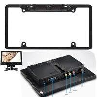 Metal Frame View Night Vision Backup Parking HD Camera Mini 8Inch VGA BNC AV Modules LCD