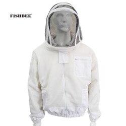 Professionele anti bee pak 3 Layer Air-through beschermende body Pak met Afneembare Hoed Geventileerde Bijenteelt jacket