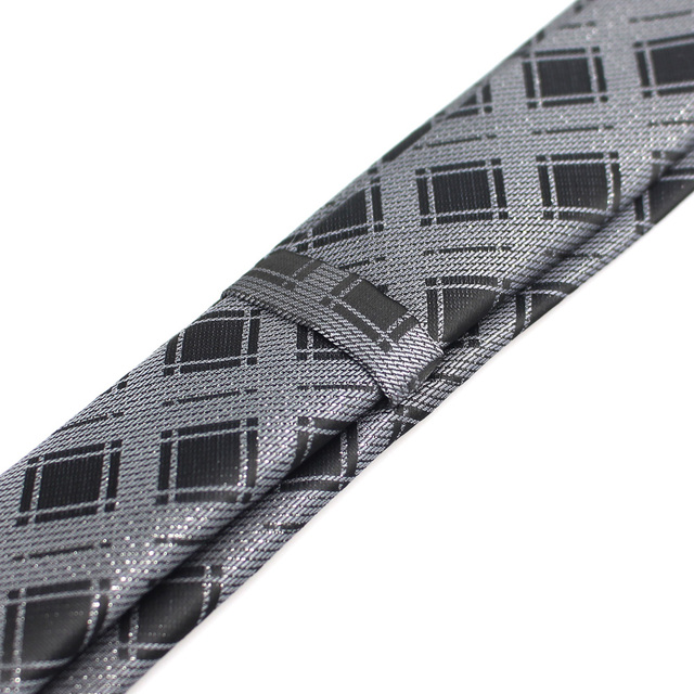 New Men's casual slim ties Classic polyester woven party Neckties Fashion Plaid dots Man Tie for wedding Business Male tie 6