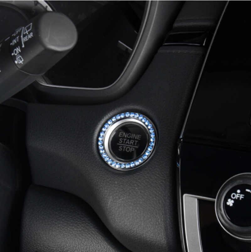 Chave de ignição do carro interruptor anel decoração capa para ford focus kuga fiesta ecosport mondeo fuga explorer borda mustang fusão