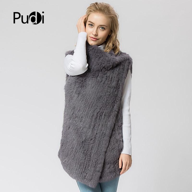 Plus Knit Vr024 Echten New Strick Weste Kaninchenfell Pelz Winter Mantel Warm Frauen Größe Jacke 7aafw4q