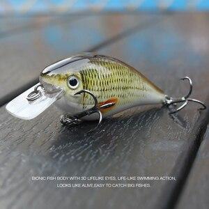 Image 5 - TREHOOK 6cm 12g manivelle Wobblers pour poisson flottant artificiel dur appât brochet manivelle appâts de pêche attirail Topwater Lure vairon