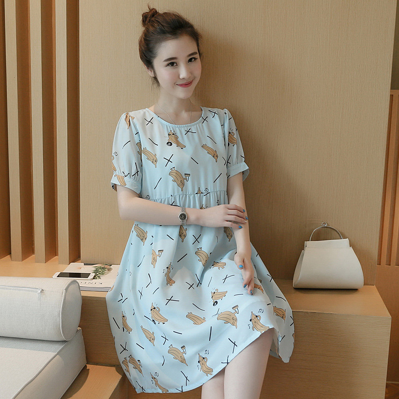 new summer maternity dresses print chiffon womens dresses pregnancy dresses maternity clothing summer clothing 16632