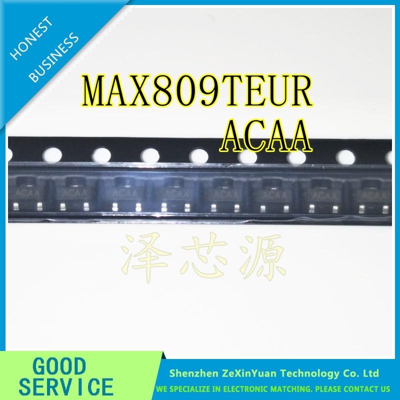 20PCS MAX809 MAX809T MAX809TEUR ACAA SOT-23