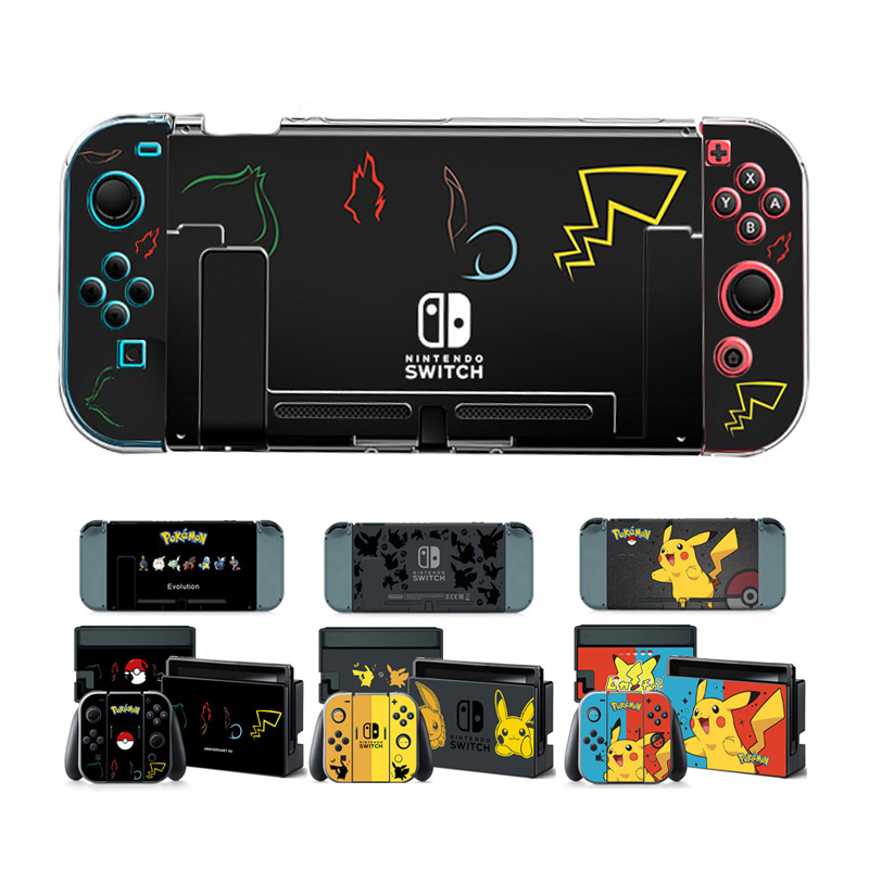 Video Games Straightforward Anti-fingerprint Nintend Switch Hard Thin Case Shell Game Poke Protector For Nintendoswitch Console Game Accessories&stickers Easy To Use