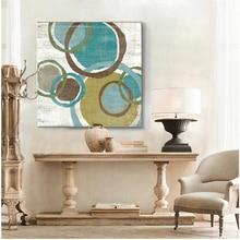 Zafiro brown círculos moderno lienzo abstracto pintura al óleo arte de la pared envío gratis artista decorativo para el hogar y oficina